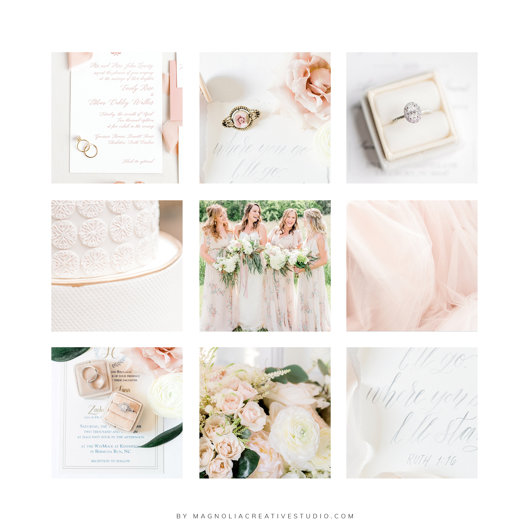 Moodboard for Megan Travis Photography- by Magnolia Creative Studio