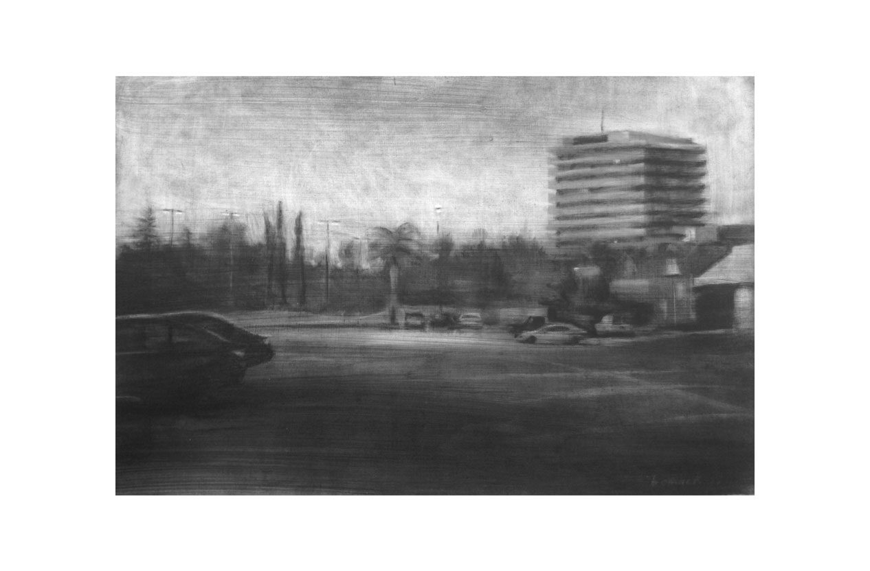 "stockdale tower   conte crayon on paper  10""x15"""
