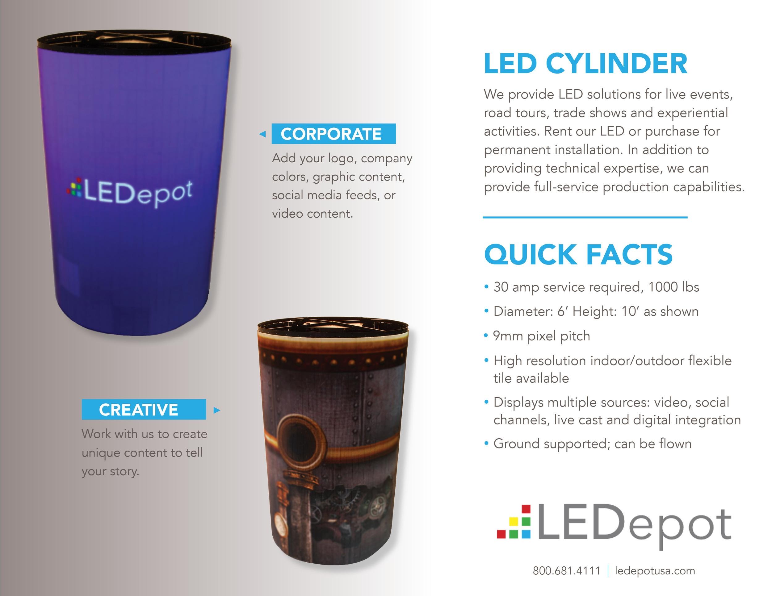 LED Cylinder strucuture