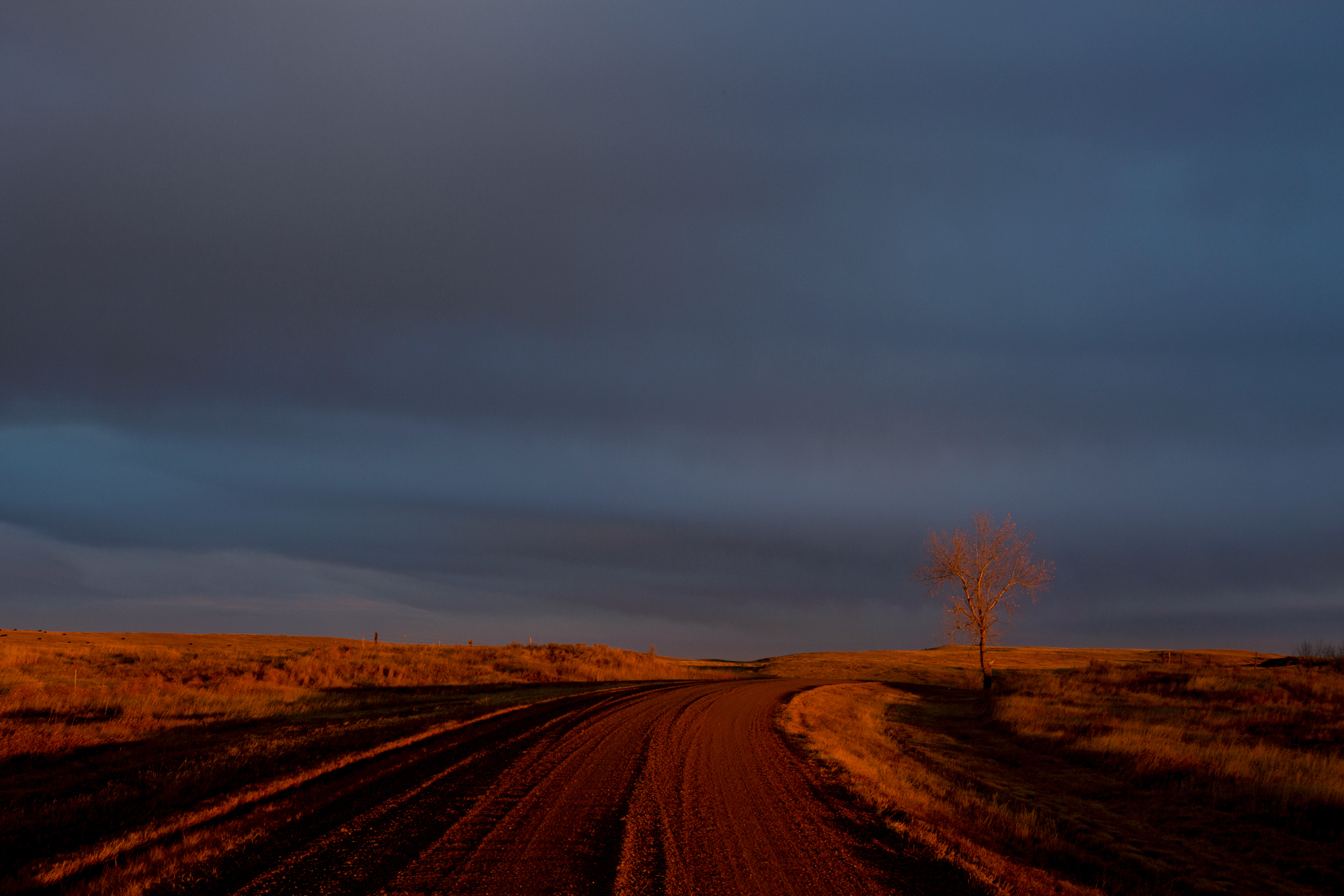 Sunset on the Standing Rock Reservation, N.D.