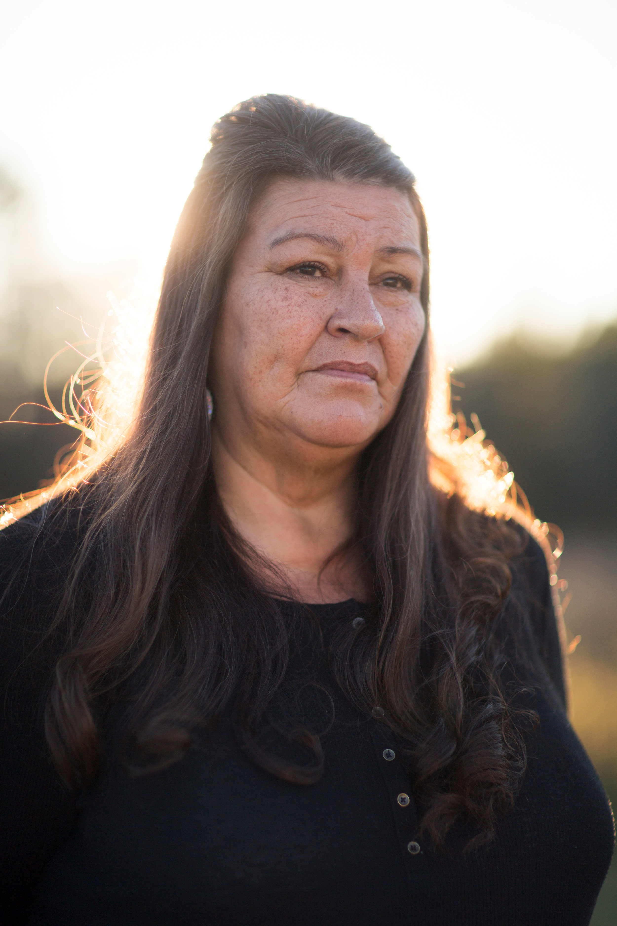 Kathy Boyd is seen here at her home in the Grass Mountain community on the Rosebud Indian Reservation. It took nearly four hours for Boyd's health to be assessed, care to be determined, and life flight to be approved before she was transfered nearly 200 miles east to a hospital in Rapid City.