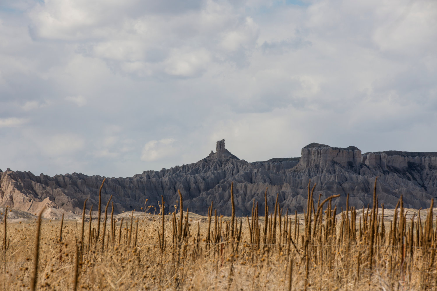A view from the reservation side of the road into the views of Badlands National Park as seen on Wednesday, April 5, 2017, along Cuny Table Road on the Pine Ridge Indian Reservation in South Dakota. Without national funding like that from the National Endowment for the Arts, art and cultural programs in sparsely populated rural states like South Dakota are at risk of disappearing altogether. (Kristina Barker for The New York Times)