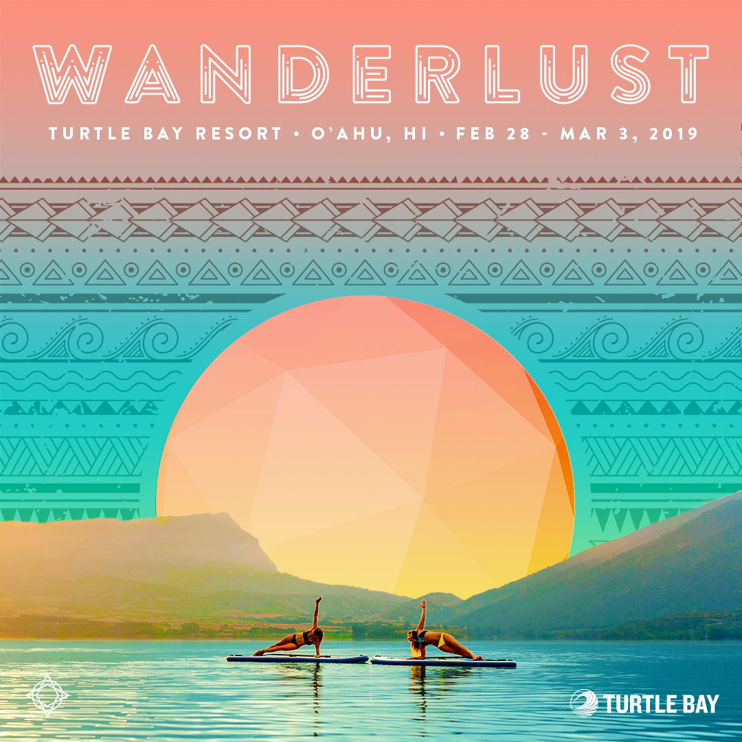 Deepen your practice, nurture your soul and gather with like-minded people from across the country on one of the stunning beaches in the world. Join me in 2019 at @WanderlustFest O'ahu Feb 28 - March 3 at @turtlebayresort on O'ahu's North Shore. Purchase your tickets online at    wanderlust.com/festivals   .  #WanderlustFestival #WanderlustOahu #Wanderlust2019