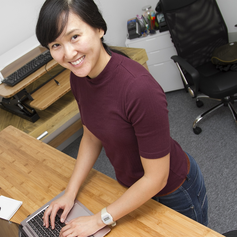 bamboo standing desks for home and office workspaces