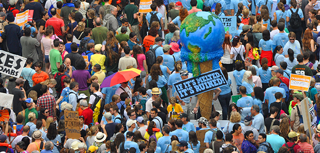 Ben & Jerry's at the People's Climate March in 2014. Photo courtesy Ben & Jerry's/Unilever