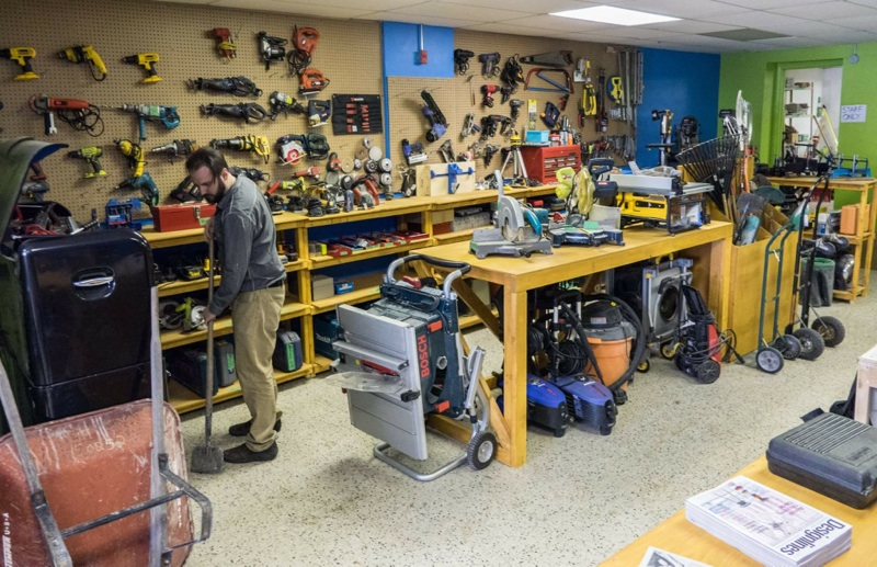 The tool library at the Sharing Depot