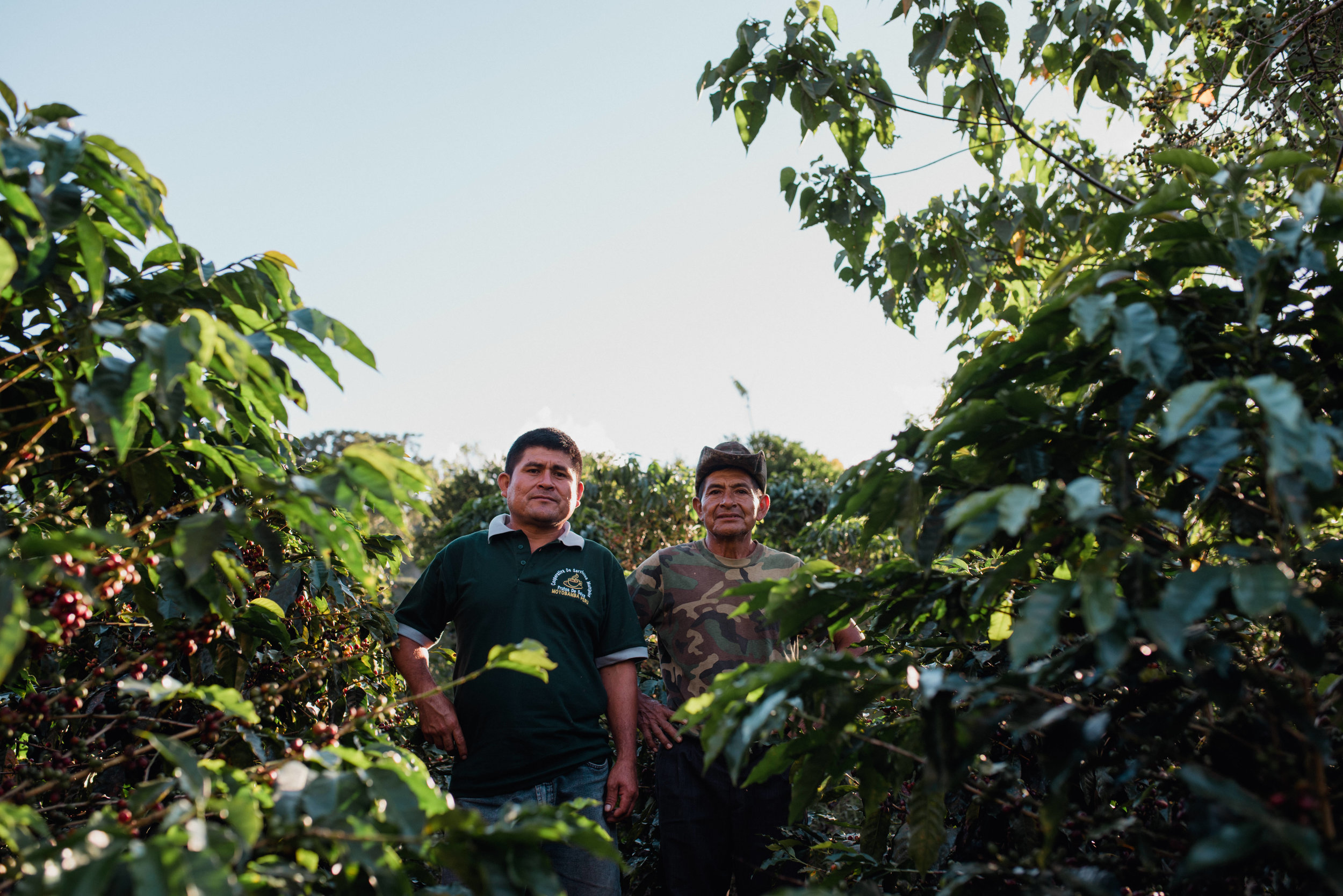 Daniel Diaz (left) and his father, Gonzalo Diaz (right), two of Farmers First Coffee's initial partner-farmers. Image courtesy of Farmers First Coffee