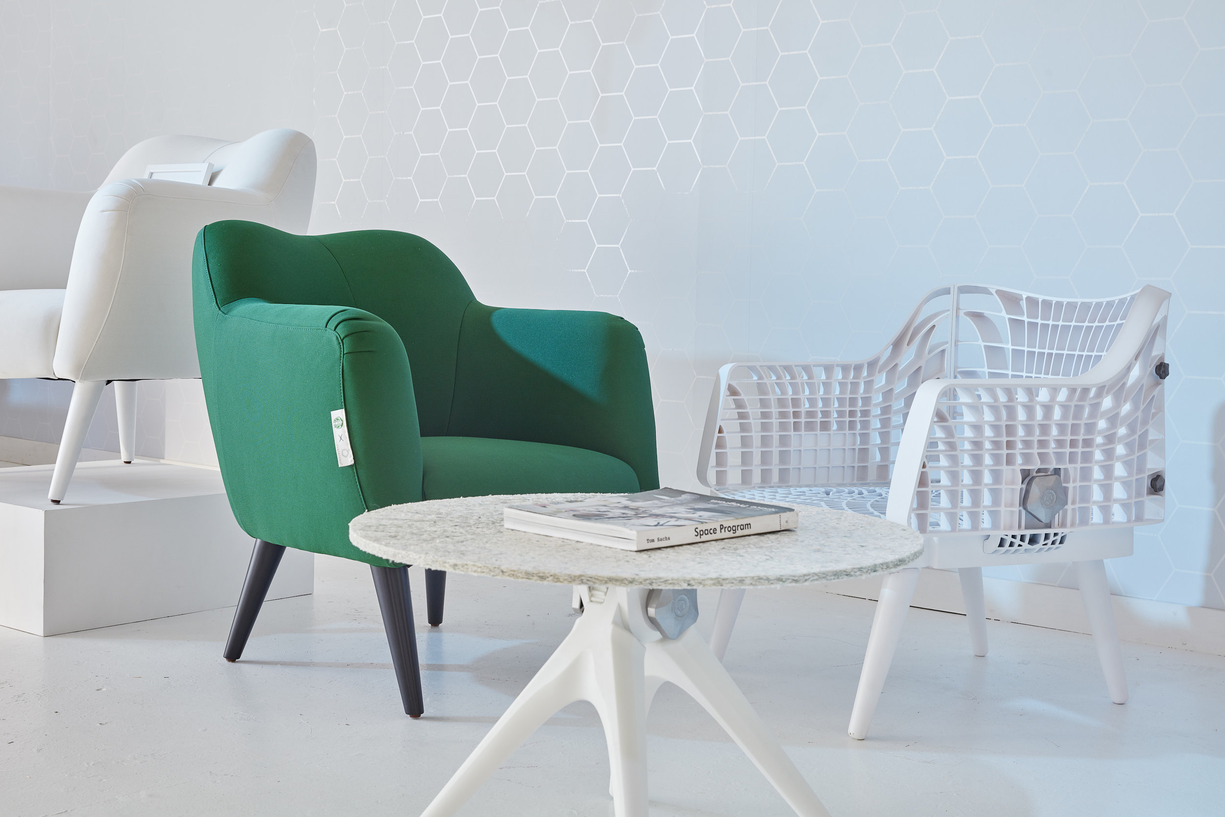 The recycled Starbucks bean chair redesign. Image courtesy of Pentatonic