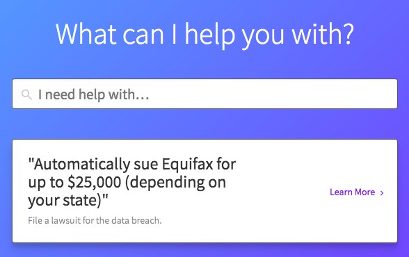 Screenshot of DoNotPay's website.