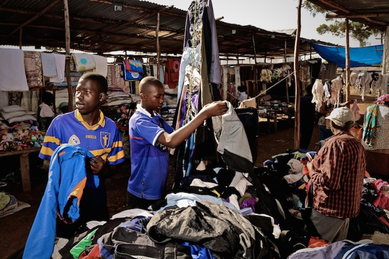 A second-hand clothing market in Nairobi, Kenya. Image by Colin Crowley  via Flickr.