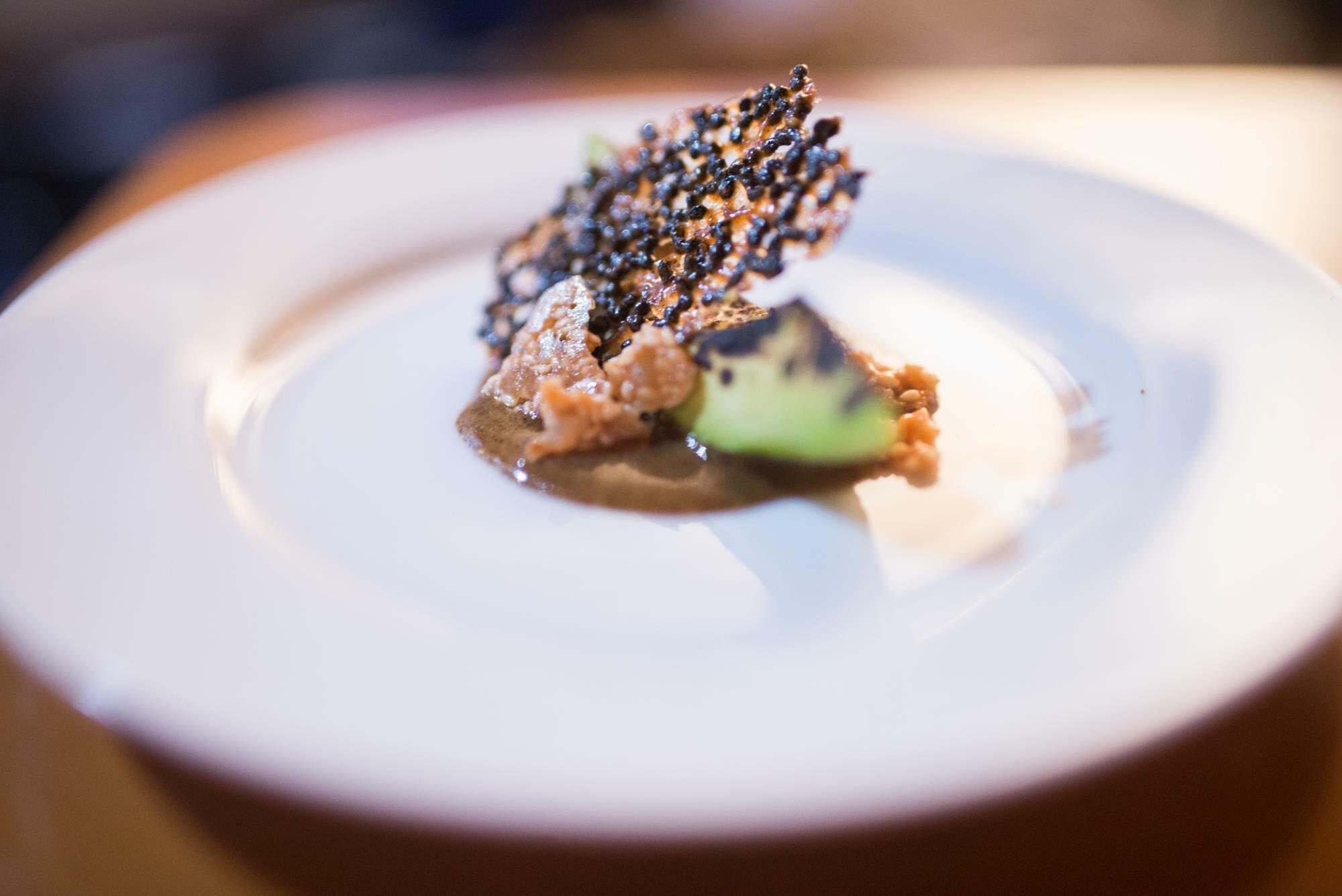 An amuse-bouche from a recent Saint City Supper Club dinner. Photo by Erik Jon Gustafson.
