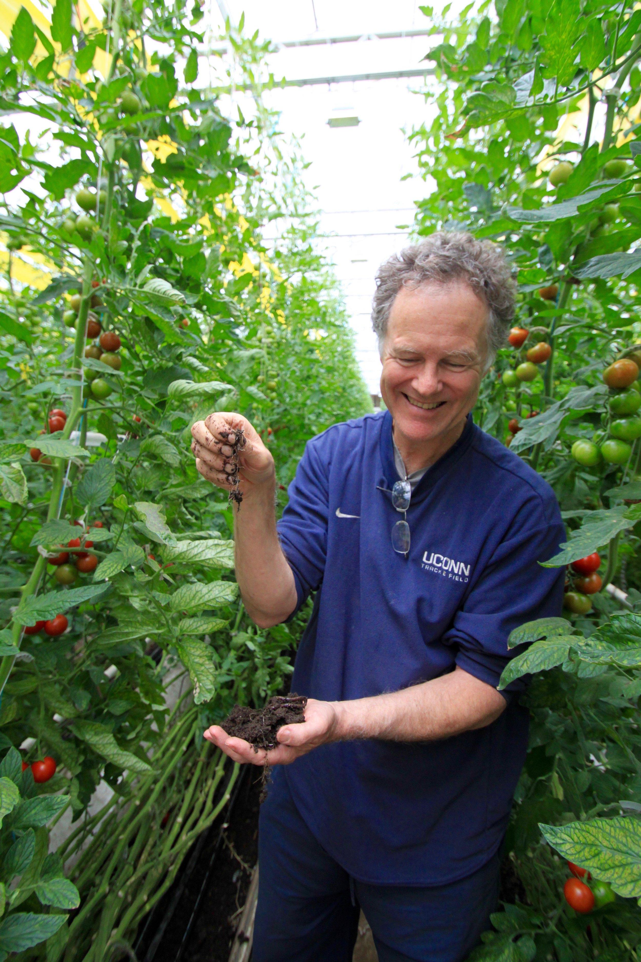 Organic farmer Dave Chapman. Photo by Yoni Lamm