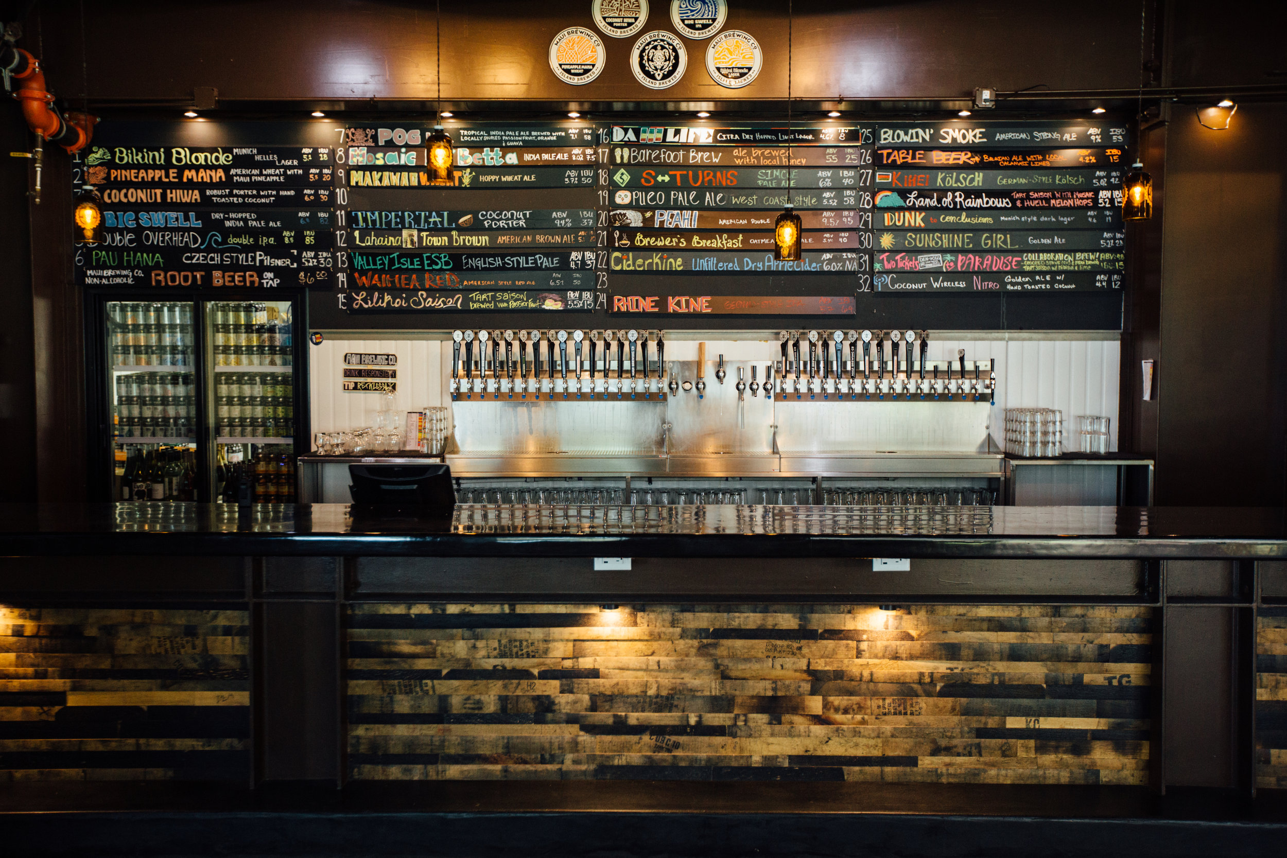 Maui Brewing's tasting room. Image via Maui Brewing