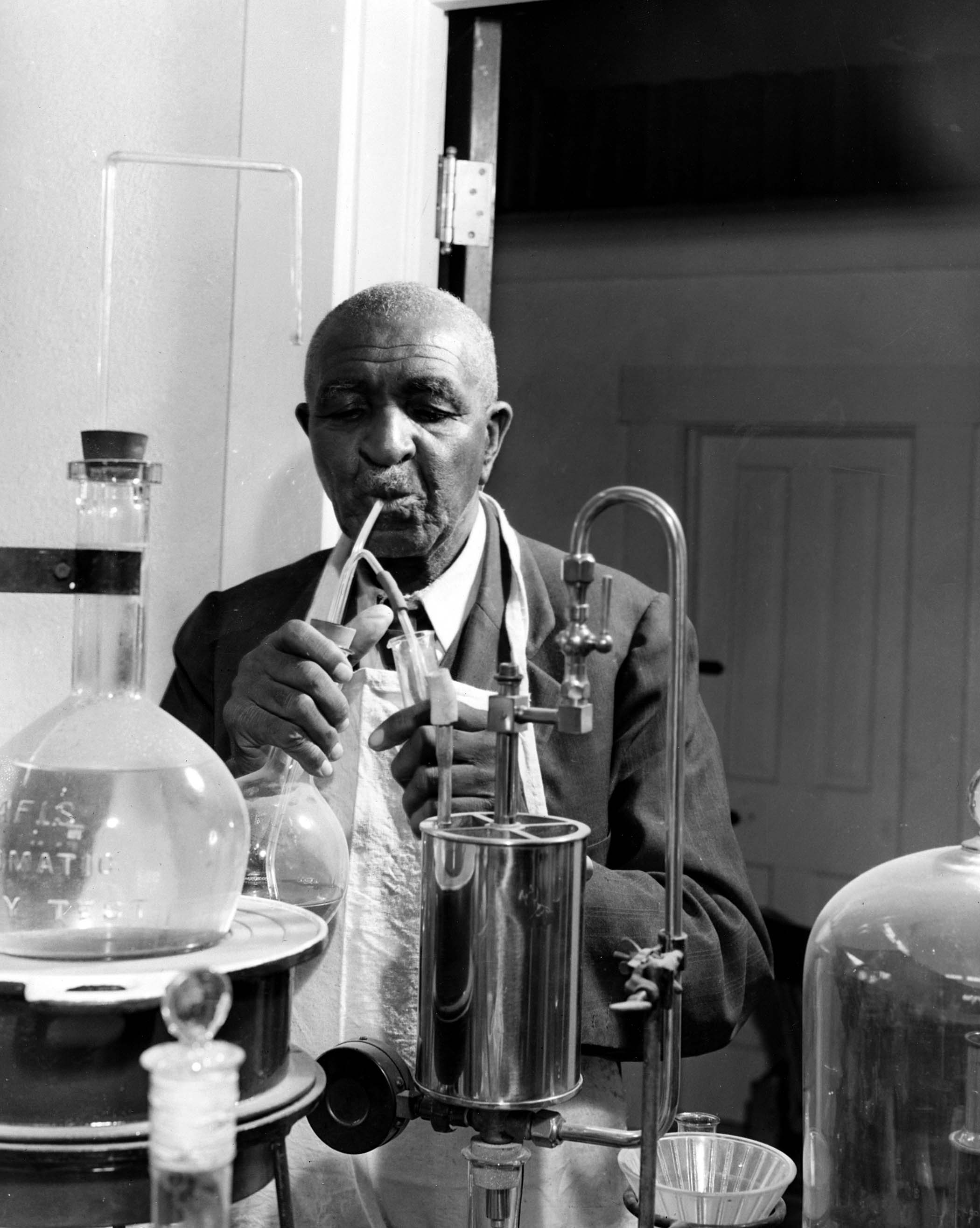 George Washington Carver. Photo via USDA National Agricultural Library