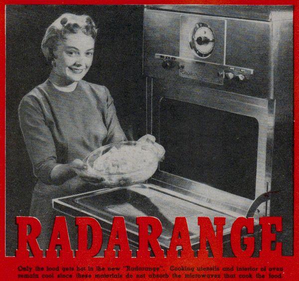 An early Radarange microwave. Image via RFCafe.com