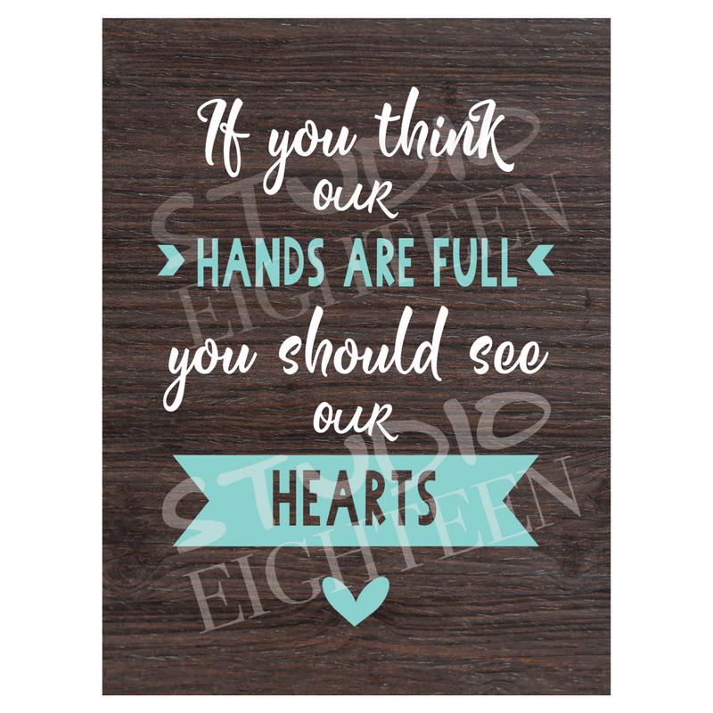 FULL HANDS FULL HEARTS