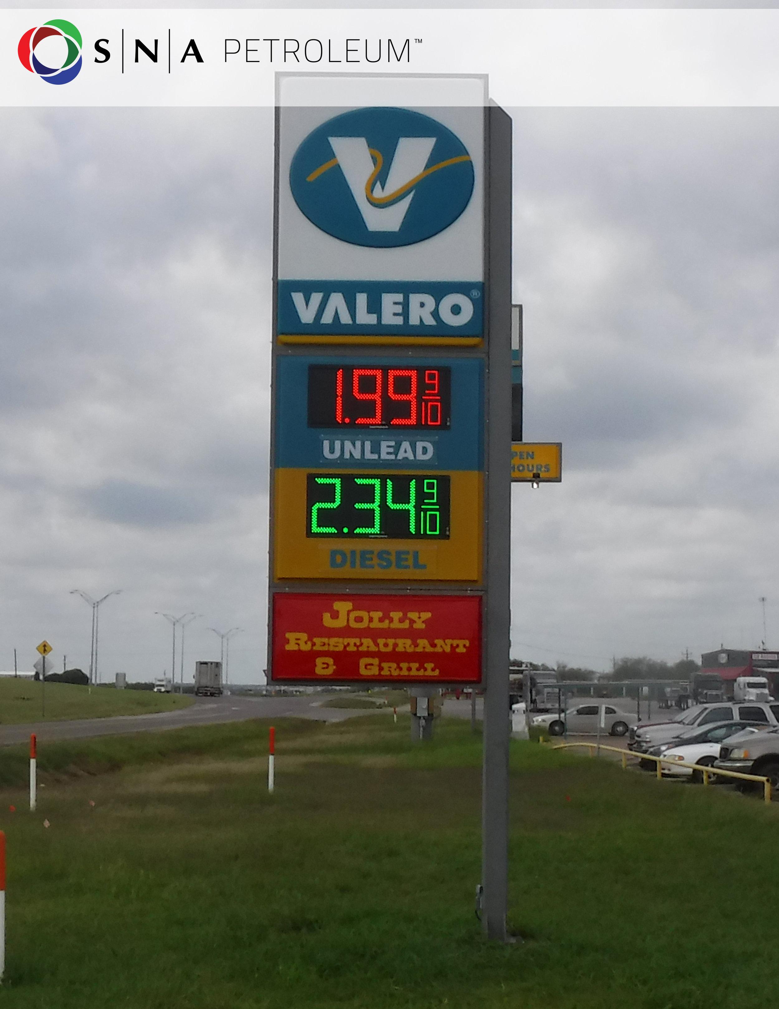 Preciadores LED para gasolineras en México SNA México, BP, CHEVRON, SHELL, VALERO, G500, FULL GAS