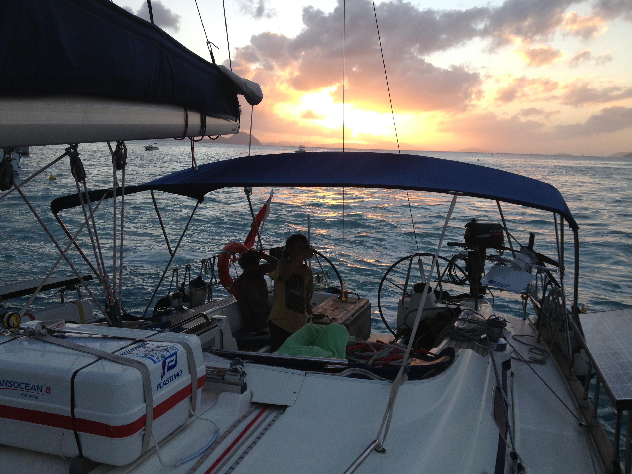 sunset cockpit