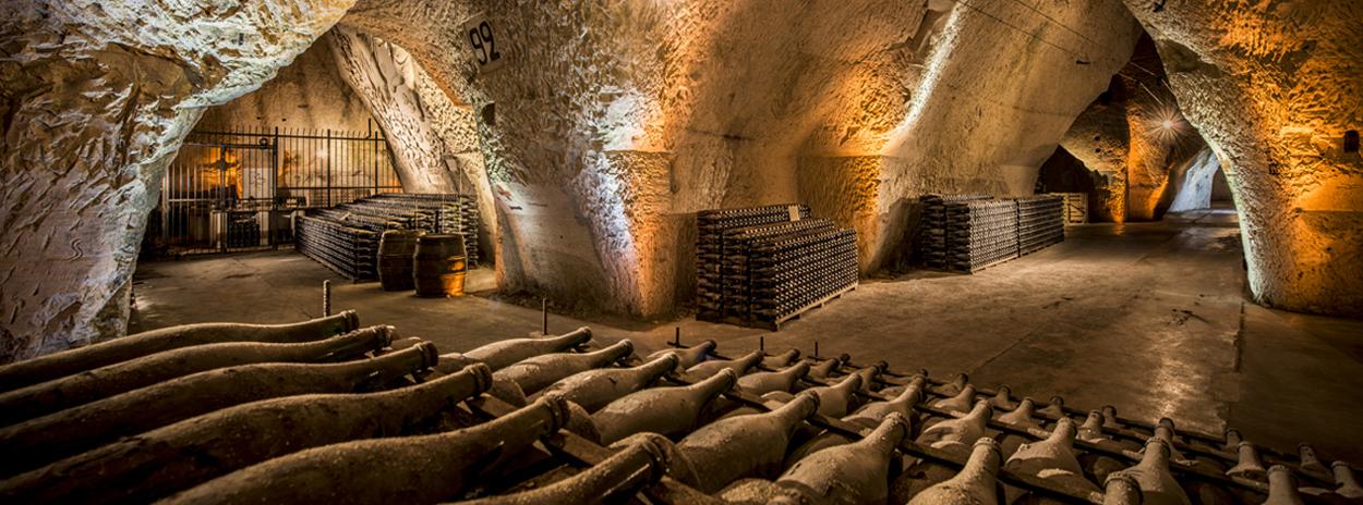 The caves of Veuve Cliquot.