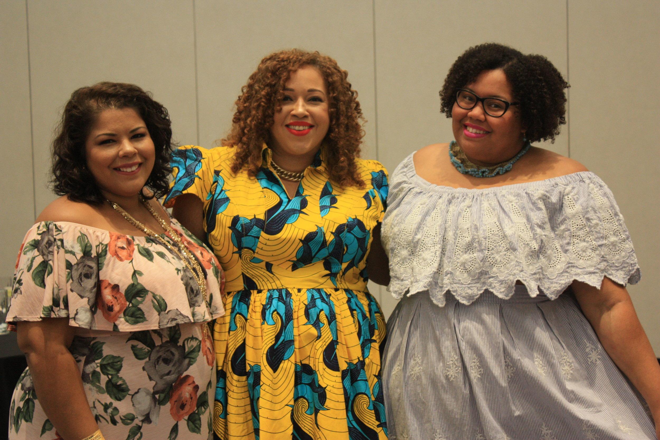 Darlene (SuitsHeelsandCurves), Sandra (LapecosaPreciosa), and Me (EclecticKurves)