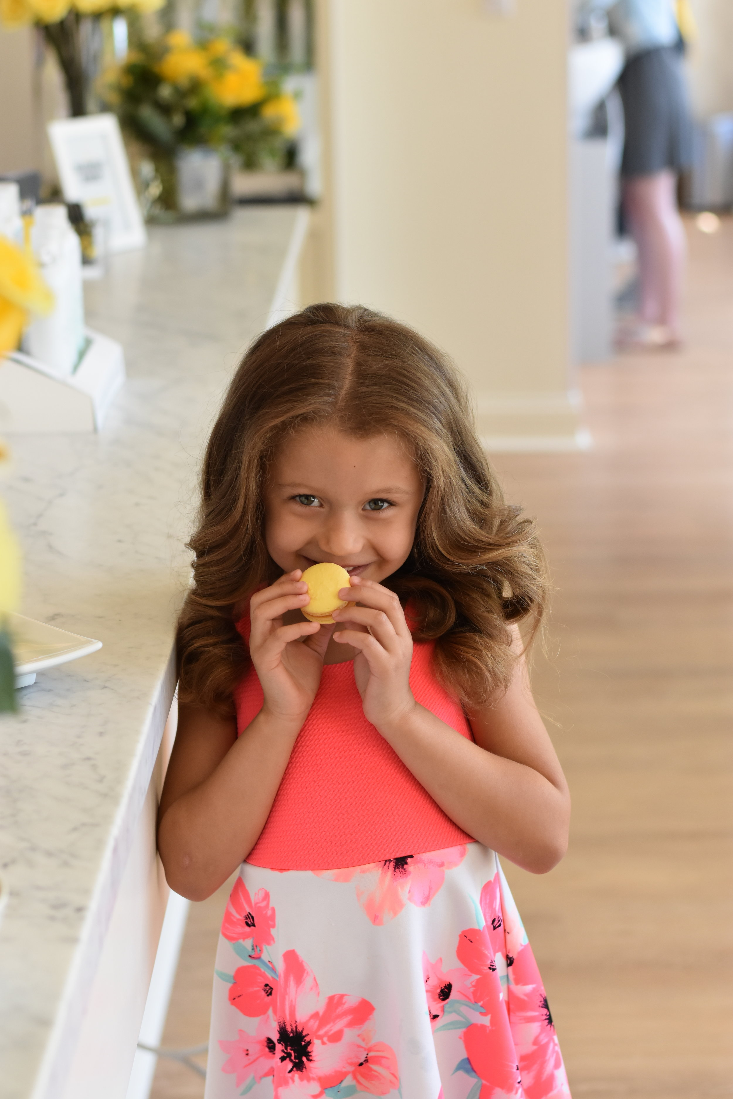 Image of little girl with a new blowout style from DryBar in Indianapolis.