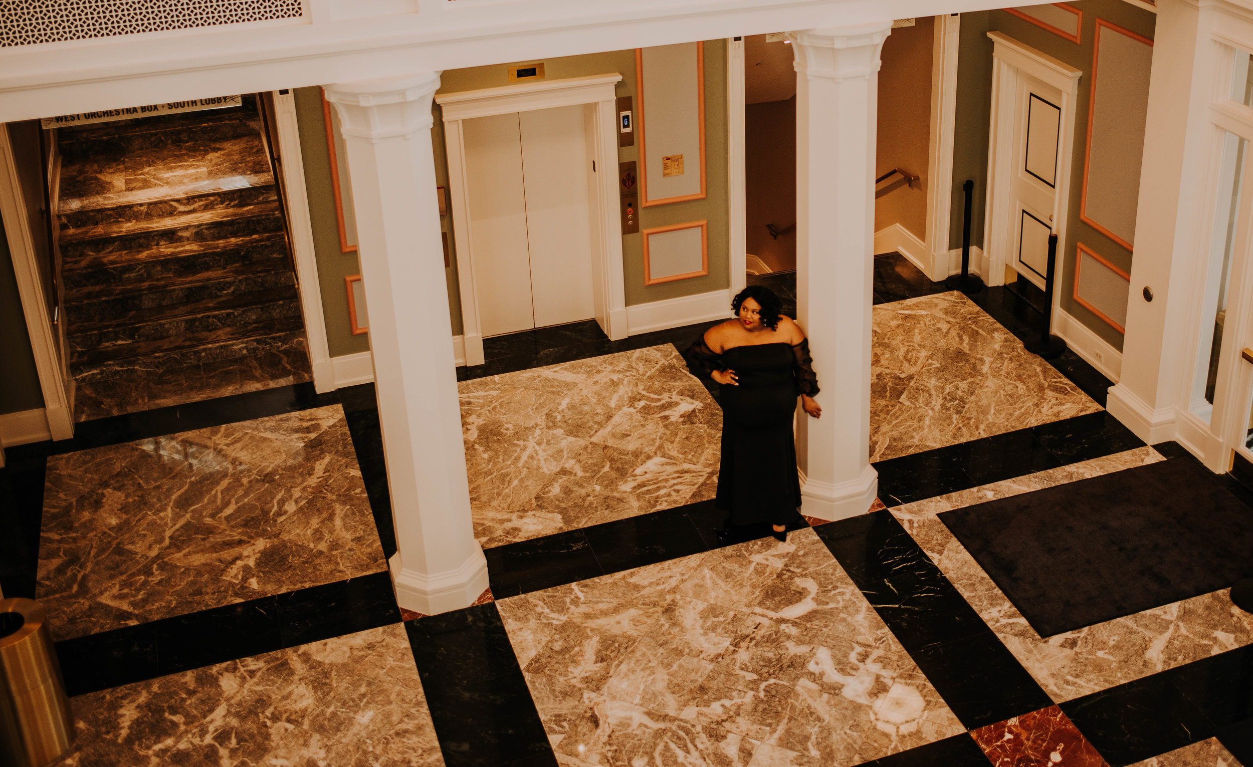 The beautiful marble floors inside the Palladium. Home of the Carmel Symphony Orchestra.