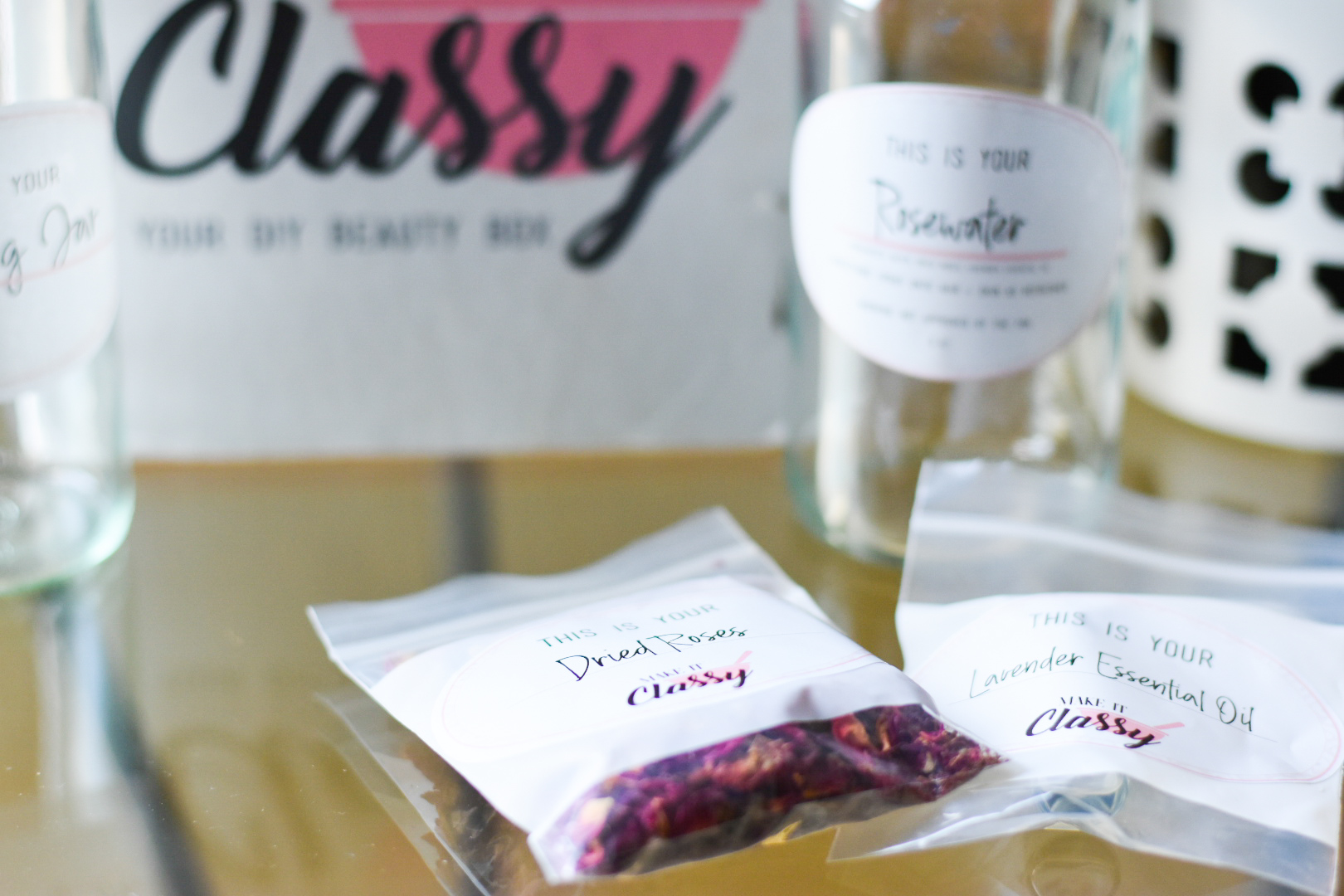 Make It Classy Dried Rose Petals and Lavender Essential Oils