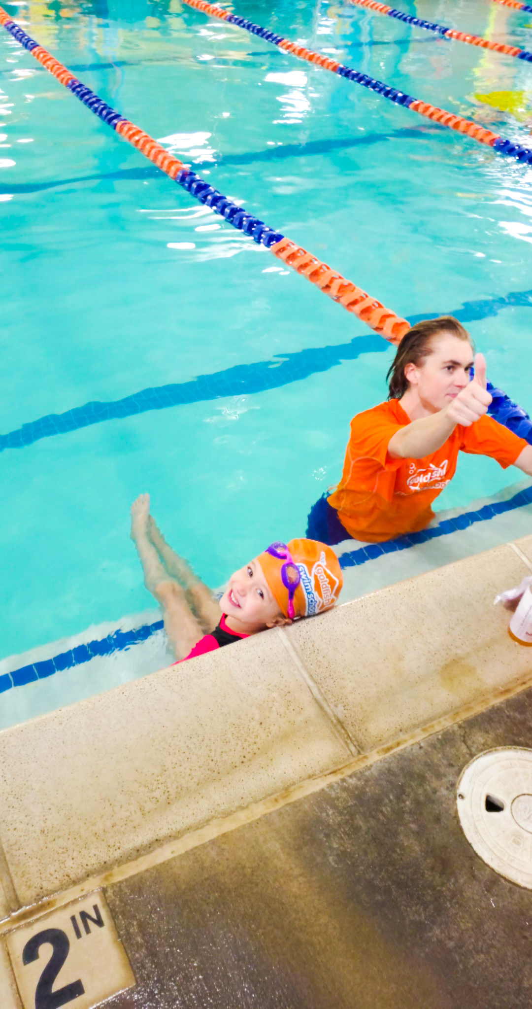 We do swimming lessons at Goldfish Swim School to have a fun and safe Summer in the pool or ocean on vacation! Sign your kids up for swimming lessons today!