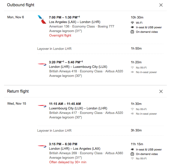 LA to Luxembourg City $383 Roundtrip