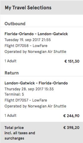 Miles Travel - Orlando to London $445