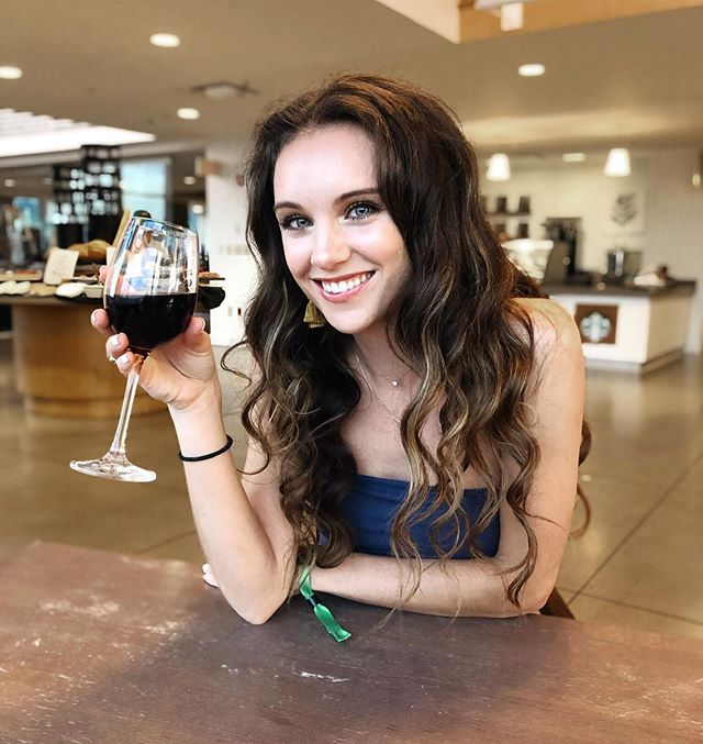 """""""Tale as old as time, Lindsey drinking wine."""" - Tyler happy happy Friday friends! 🍷 📷: @lydiadallmusic"""
