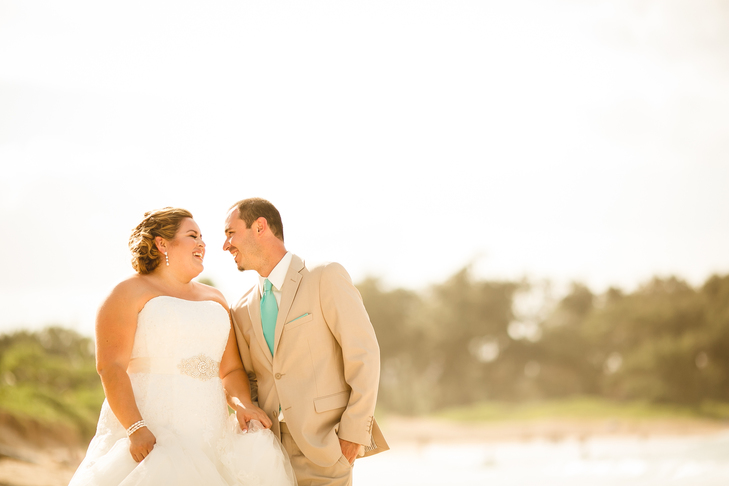 Tim & Veronica's Destination Wedding on the beach of the North Shore of Oahu in Hawaii.