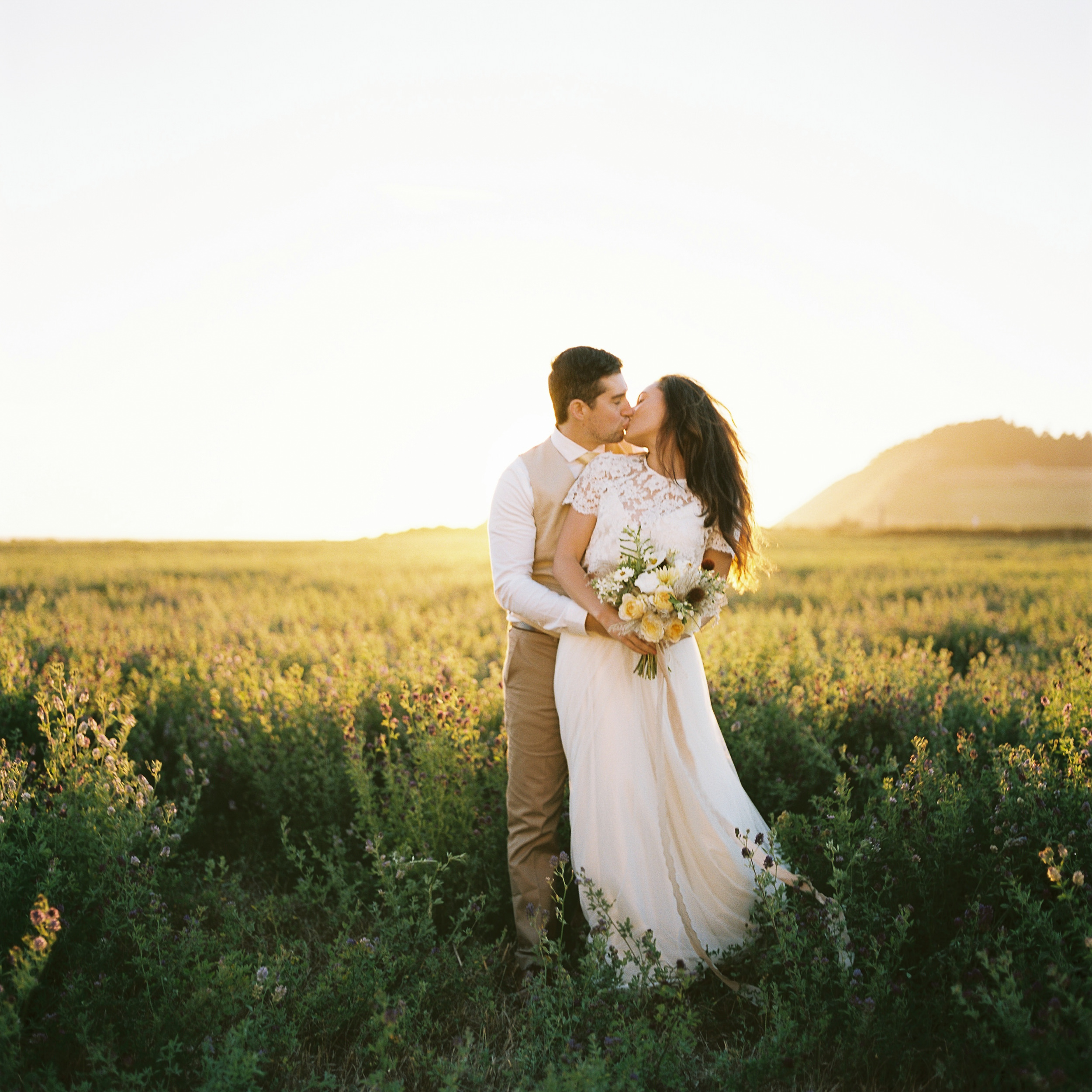 Bride and Groom Portrait, Ebey's Landing