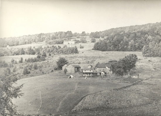 william coombe's summer home near grahamsville ny taken in 1909