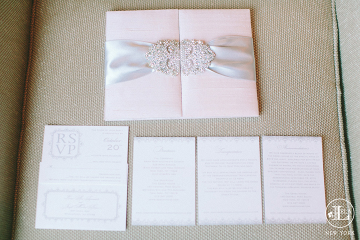 Blush Crystal Invitation | Lauren & Joseph
