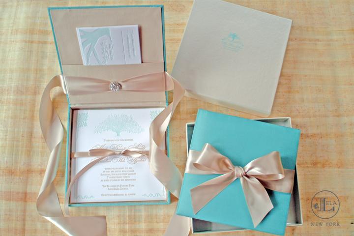 Tiffany Blue Box Invitations | Kali & Michael
