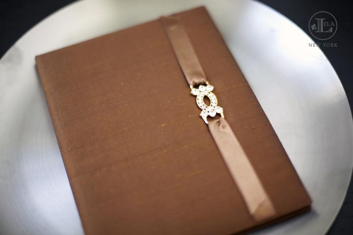 Bronze Luxury Wedding Invitation | Yvette & Denny