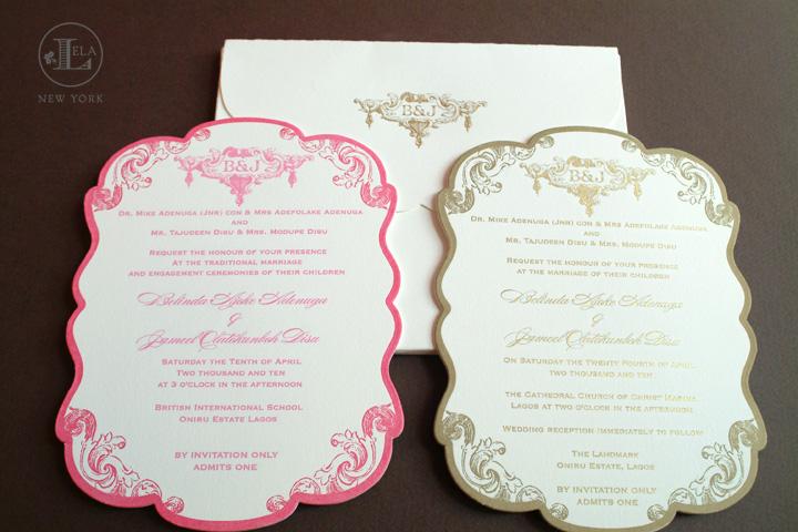 Lagos Wedding Invitation for Belinda & Jameel