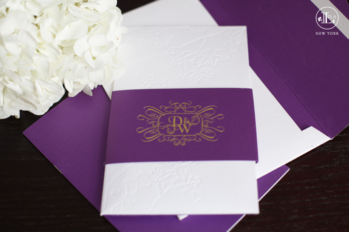 Luxury Purple Invitations | Denise & Wilson