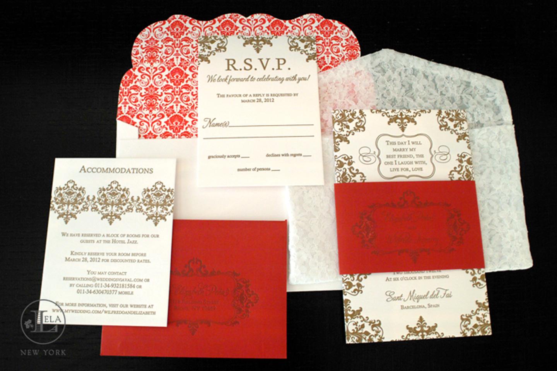 Spanish Lace Invitations | Elizabeth & Wilfredo