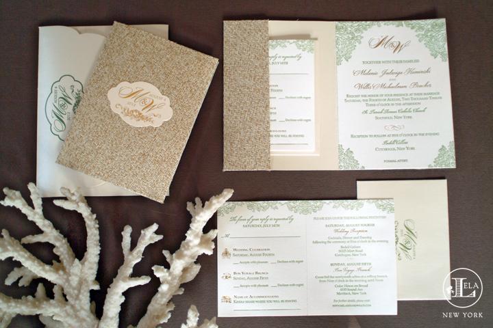 A Hamptons Wedding Invitation | Melanie & Willis