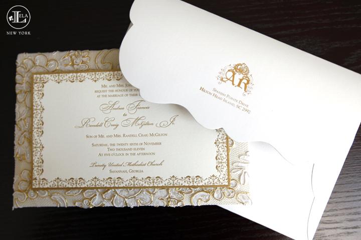 Luxury Wedding Invitations.Luxe Fabric Invitations Lela New York Luxury Wedding Invitations