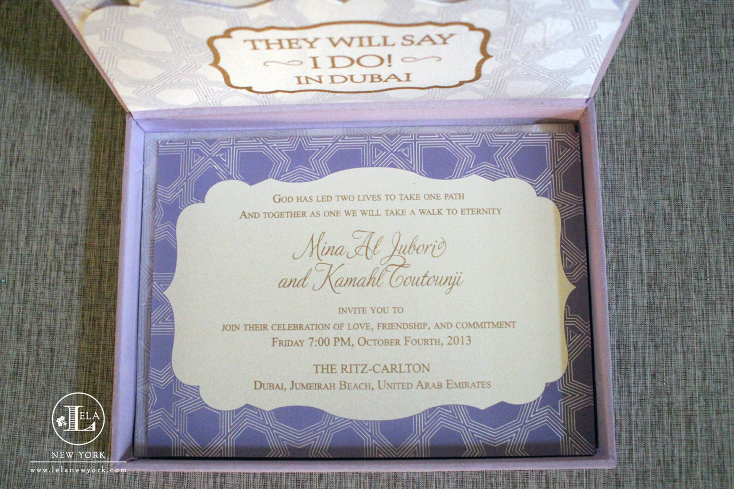 Dubai Wedding Invitation