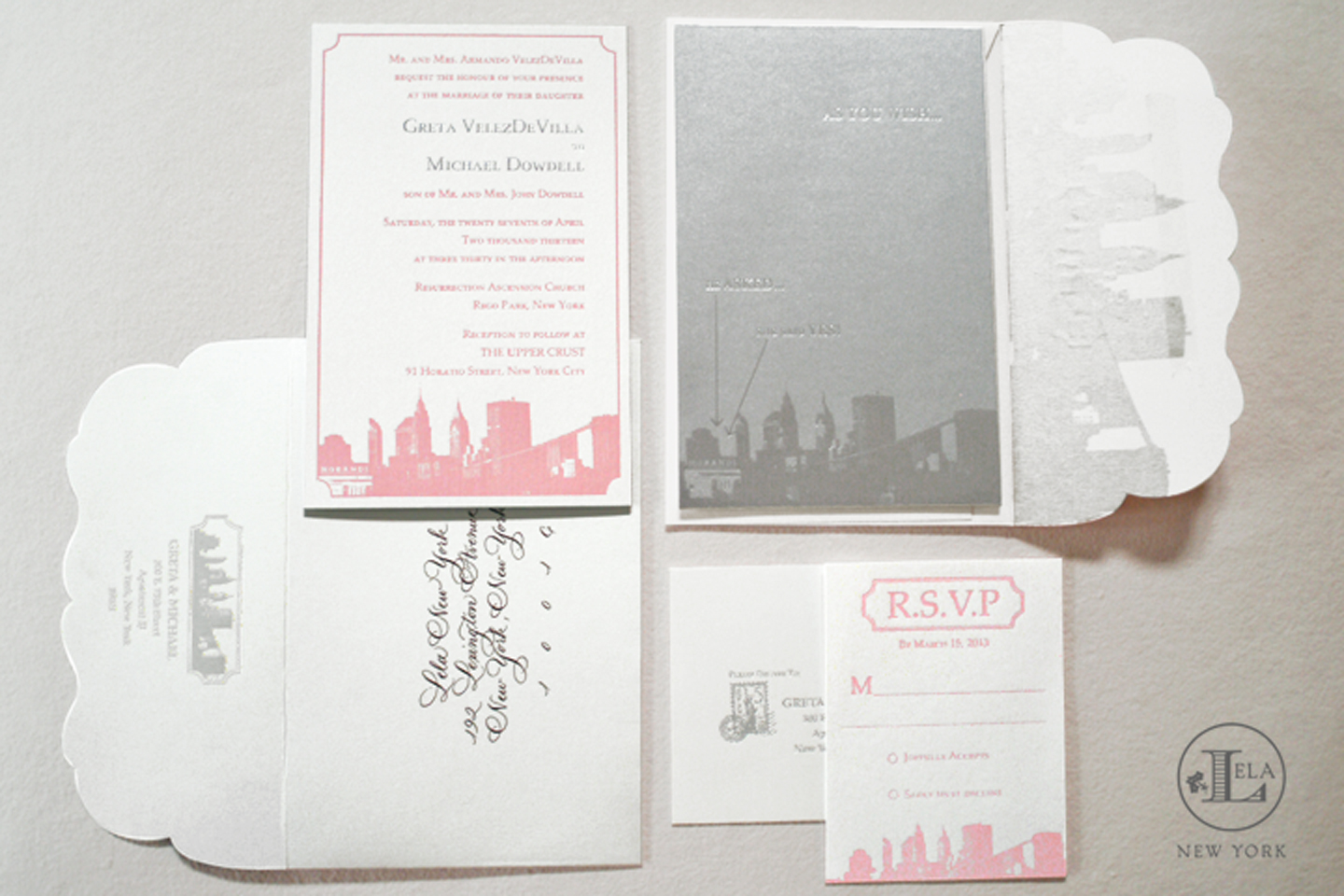 Letterpress & Foil New York Invitation | Greta & Michael
