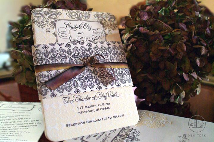 Letterpress Invitation | Crystal & Joseph