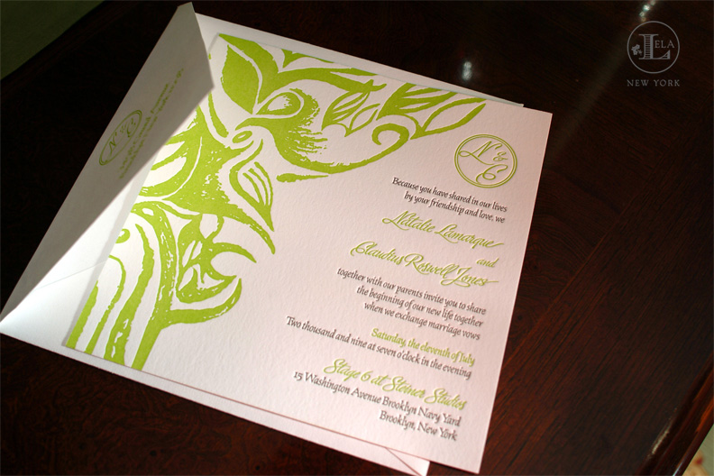 Letterpress Invitation | Natalie & Claudius