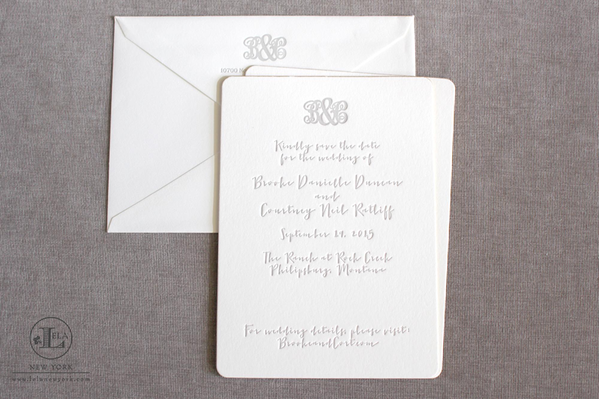 Letterpress | Brooke & Courtney