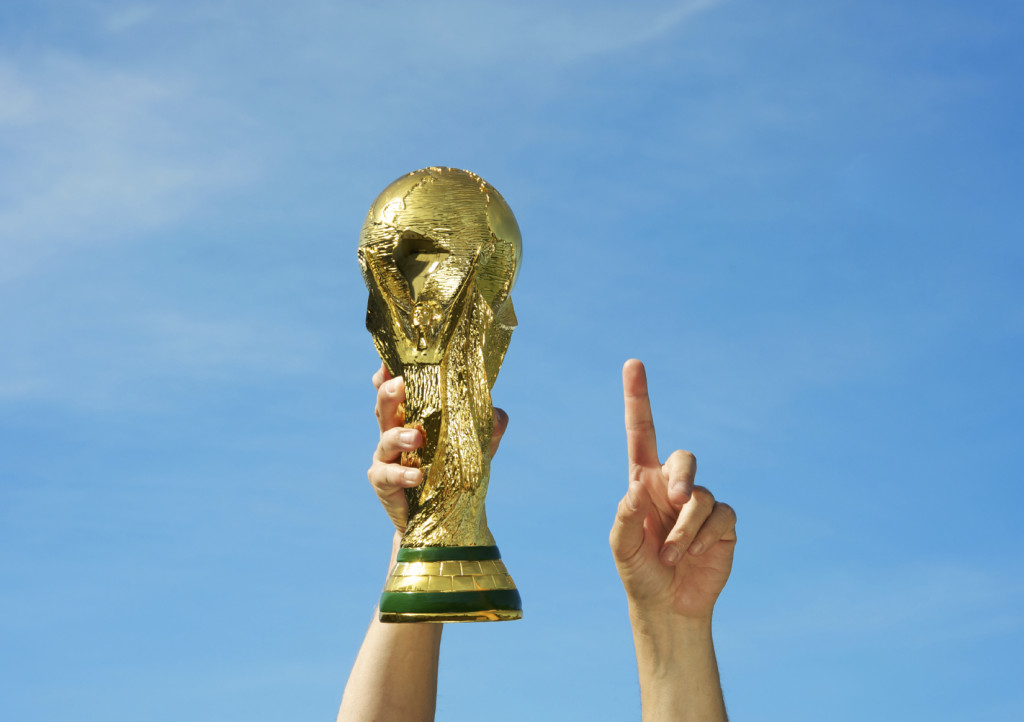 Soccer World Cup trophy