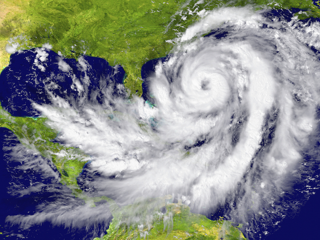 The 'eye' of a cyclone photographed from a weather satellite. ©iStock