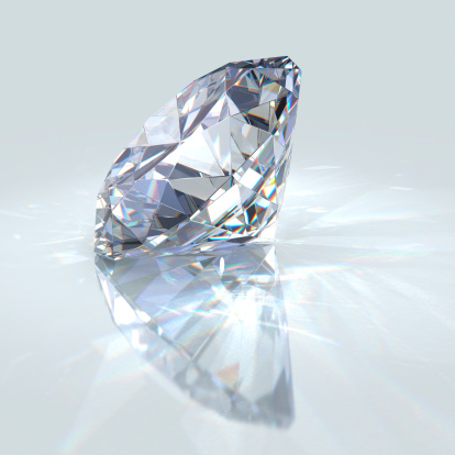 A diamond is cut at many angles to make it sparkle. Getty Images